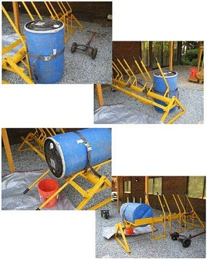 55 Gallon Drum Tipping Machine for Easy Drain & Emptying